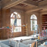 Installing new windows in the dining room