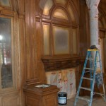 Staining the Lobby Woodwork