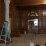 Staining the Lobby Woodwork 2