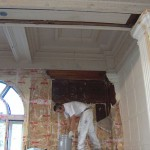 Uncovering the woodwork in the dining room