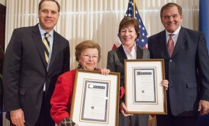 Allegheny College presents the Civility Award to the Women of the United States Senate at the National Press Club in Washington, DC, February 27, 2014.
