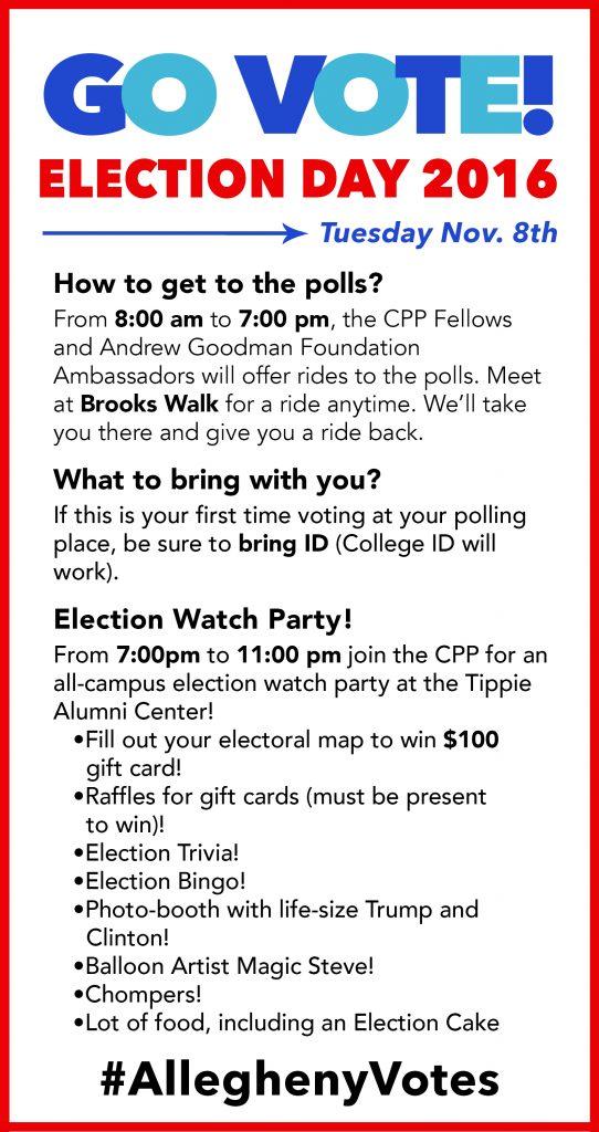 VOTE 2016 « Center for Political Participation | Allegheny College ...