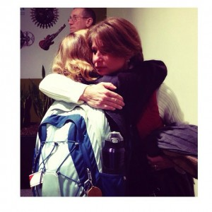 Greeting my mom with tears after studying abroad for 3 months