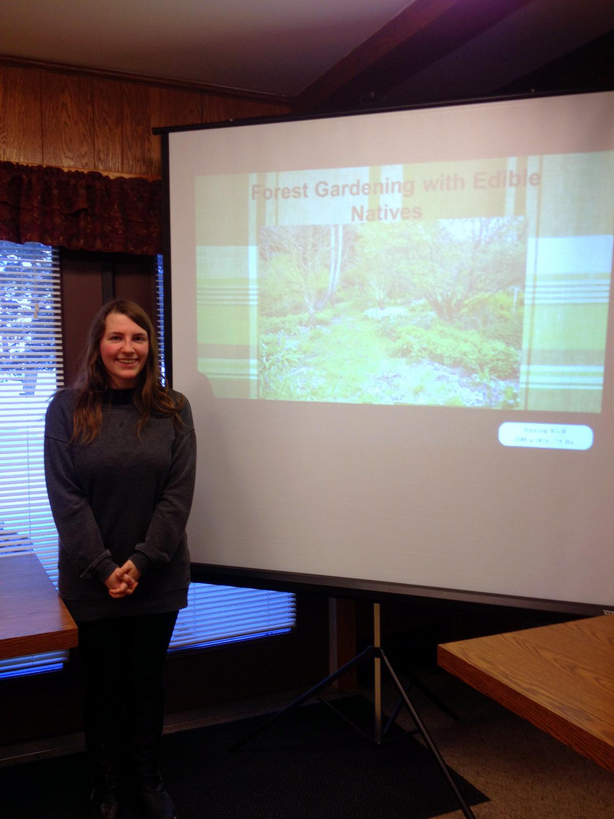 Megan Pierce presenting her Senior Thesis