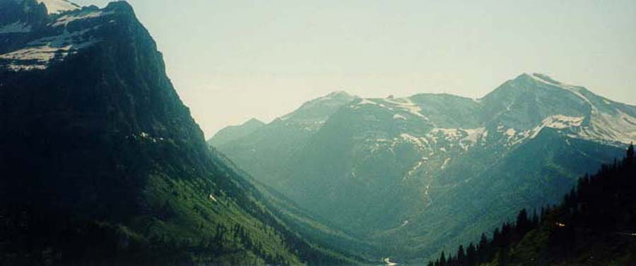 U-Shaped Glacial Valley, Glacier National Park, MT