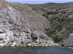 Summer 2002: Mike Haney Sedimentology to the estuarine member of the Lower Cretaceous Kootenia Formation in the Missouri River gorge