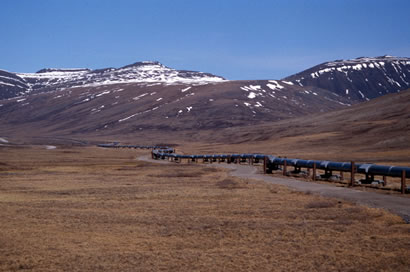 Alaska Pipeline North of Arctic Circle