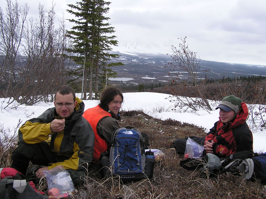 Lunch in the Reindeer Hills, May 2006