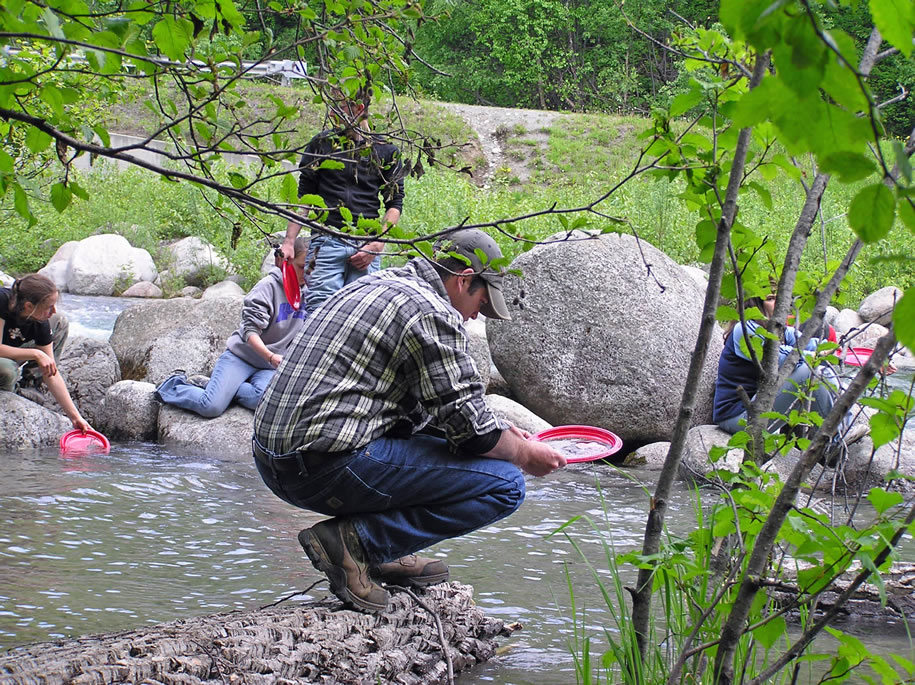 Paul panning for gold along the Little Susitna River