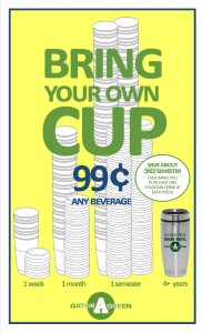 bring your own cup mckinleys yellow background