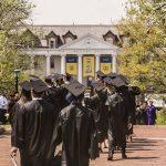 Graduates on Brooks Walk