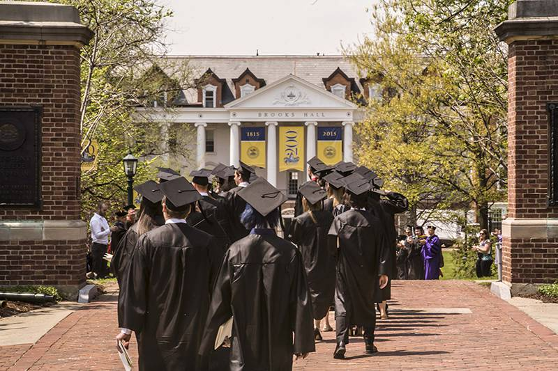 Graduates on Brooks Walk