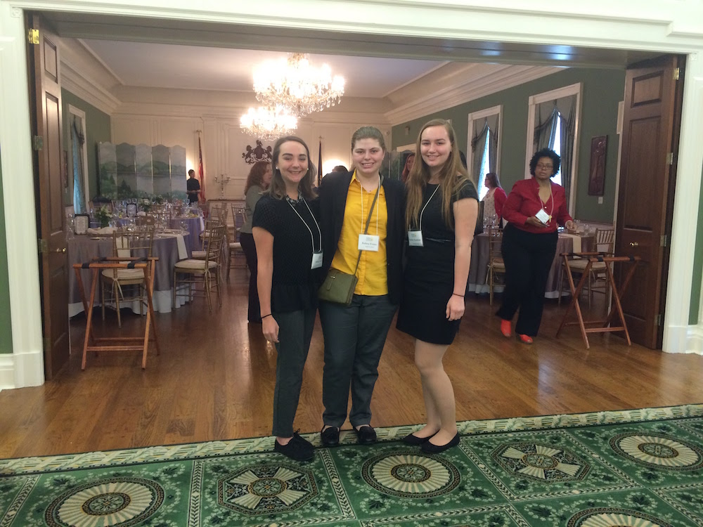 Allegheny students Marley Parish, Kelsey Evans and Emily Scanlon attend New Leadership Pennsylvania.