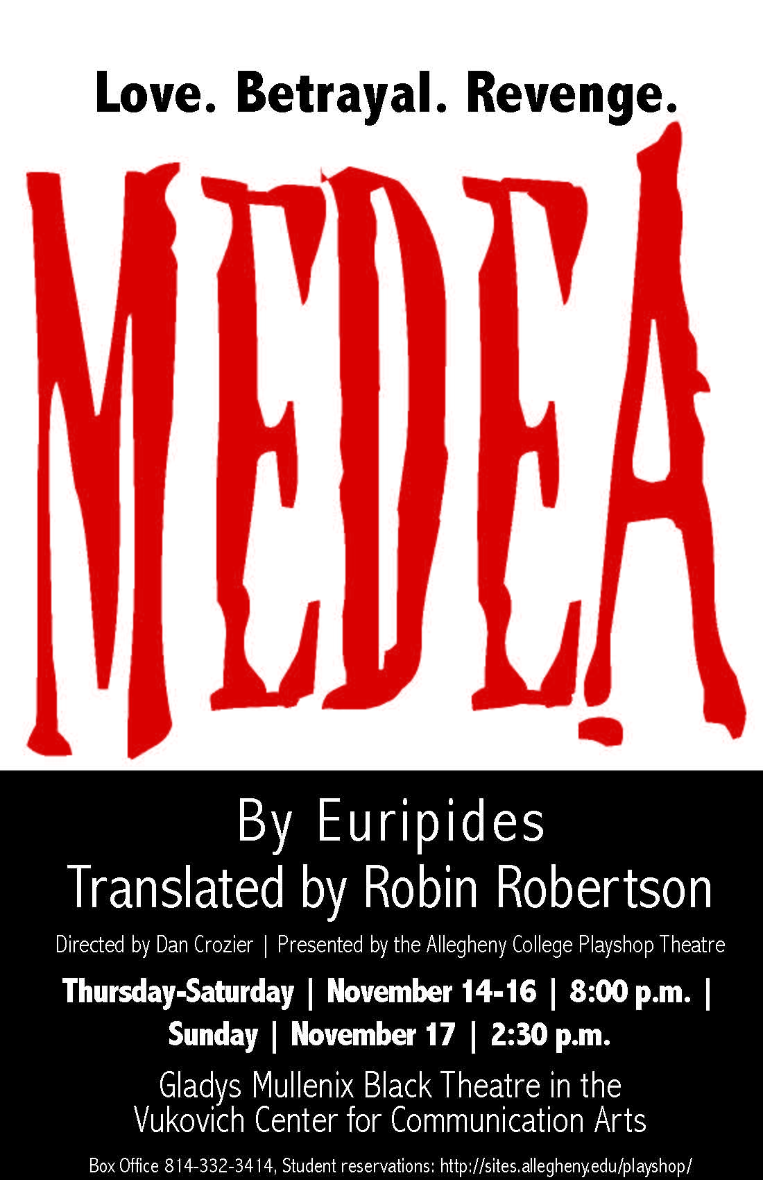 venegance betrayal and revenge in euripidess play medea Medea shows audiences the horror that can come when a person lets desire for  revenge rule her life euripides's play helped pave the way for many later.