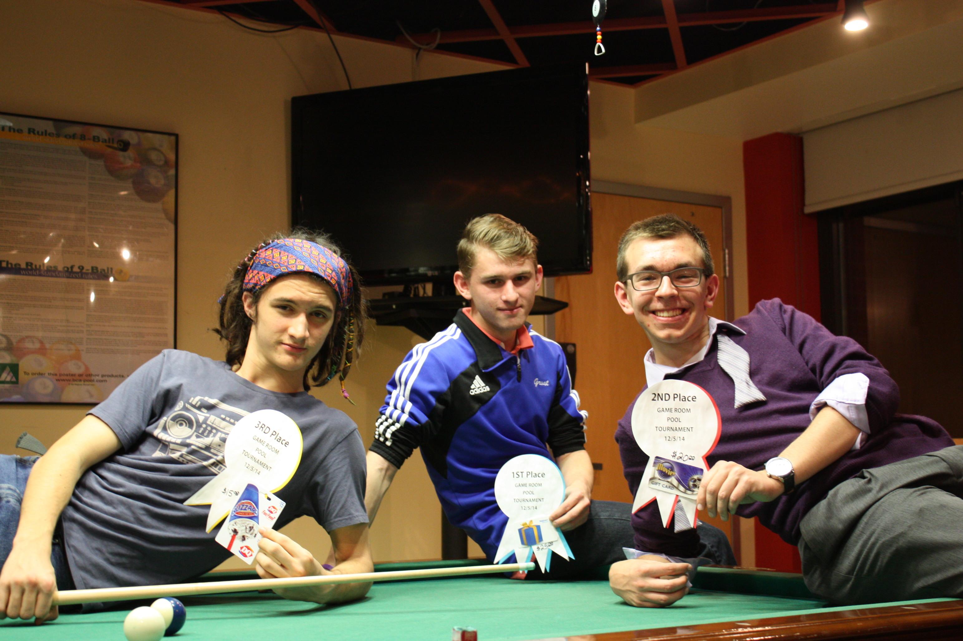 Pool Tournament Winners