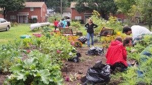 Service Saturday, Creating Landscapes for Families Community Garden