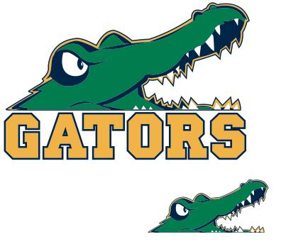 Gator in water