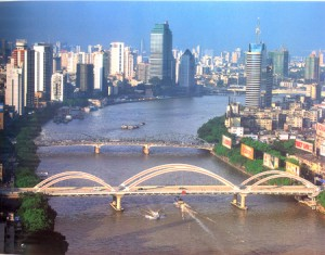 Pearl River in Guangzhou, China