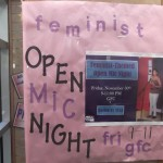 This is a poster for an open mic. You'll notice a picture of me from a previous performance was used.