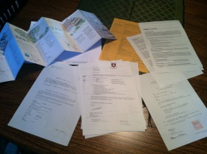 The contents of my acceptance package@