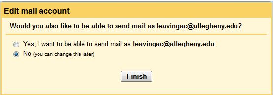 would you also like to send mail as