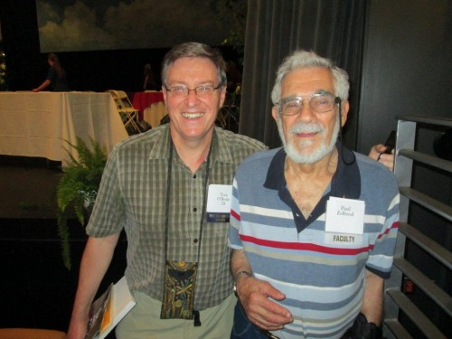 Tom with Paul Zolbrod, Allegheny College English professor emeritus