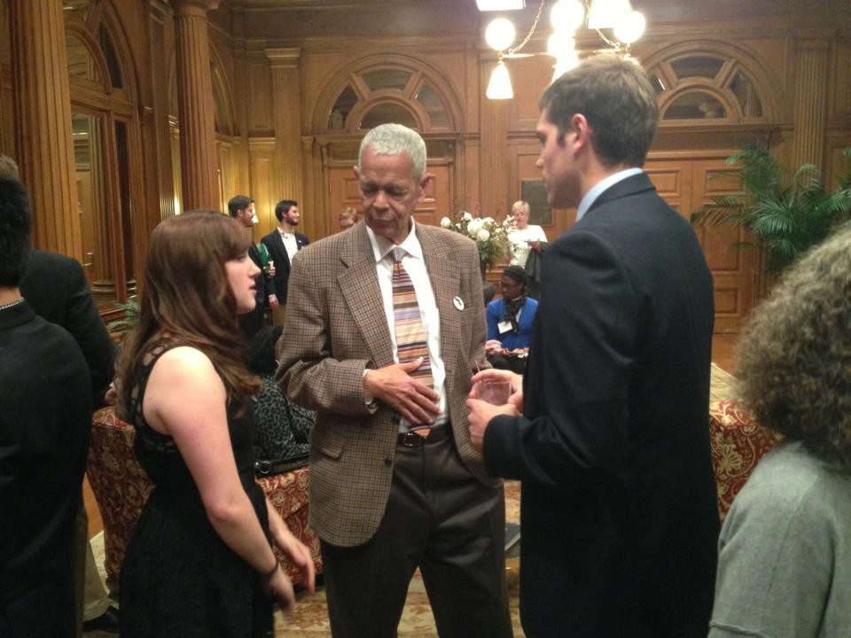 Allegheny's Jackson Center interns and Center for Political Participation fellows meeting with the late civil rights leader, Julian Bond.