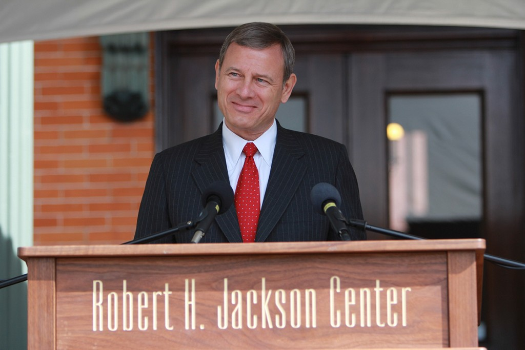 U.S. Supreme Court Chief Justice John Roberts speaking at the Robert H. Jackson Center. Every summer, select Allegheny College students work at the Jackson Center as research assistants and interns--activities that are part of the L&P Program at Allegheny.