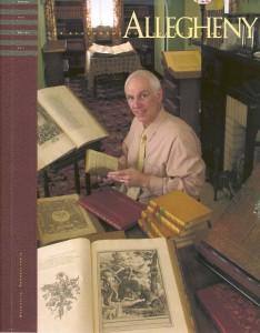 Professor Lo Bello on the cover of the Allegheny Alumni Magazine