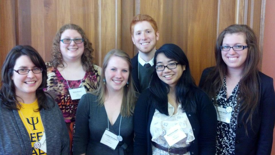 Dr. Aimee Knupsky and her senior comp students attend the 41st annual WPUPC held at Allegheny College. Pictured (from left): Dr. Knupsky, Desiree Evanson, Catherine VanDamme, Nicholas Diana, Roma Panganiban, and Courtney Hagan.